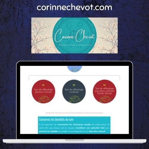 Site Corinne Chevot, réflexologue